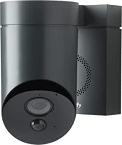 Somfy Outdoor HD Camera for Home Security Systems - Smart Device with Integrated App and Simple Installation, Anthracite Grey