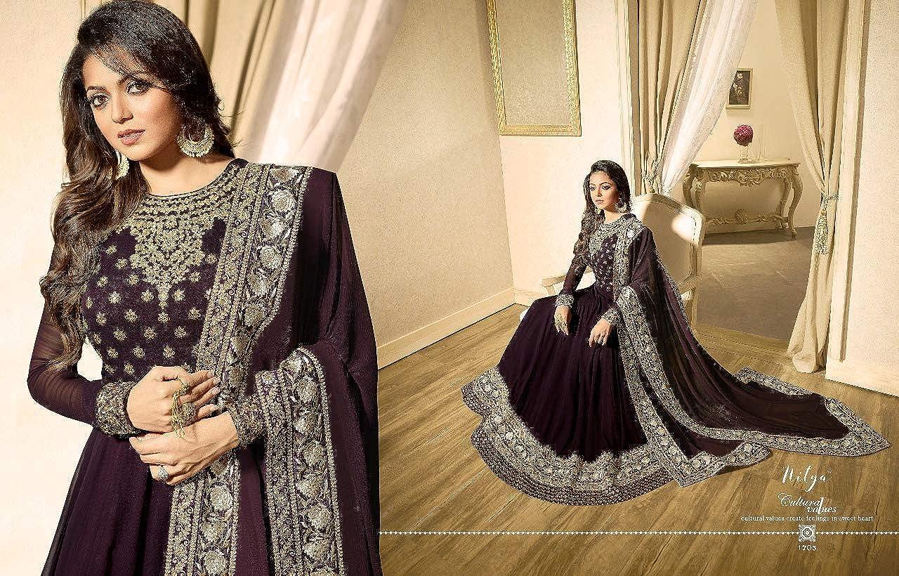 STELLACOUTURE Indian//Pakistani Salwar Kameez Georgette net Suit for Women L.T 117
