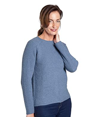 Womens Cashmere Merino Cable Knitted Jumper  Amazon.co.uk  Clothing 58afa314db