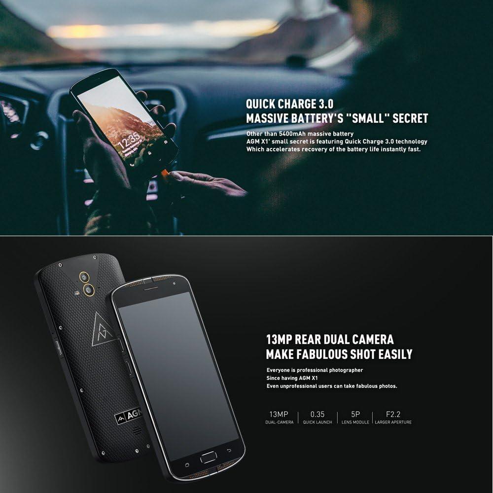 AGM X1 Outdoor Smartphone 5,5 pulgadas Super AMOLED SIM ...