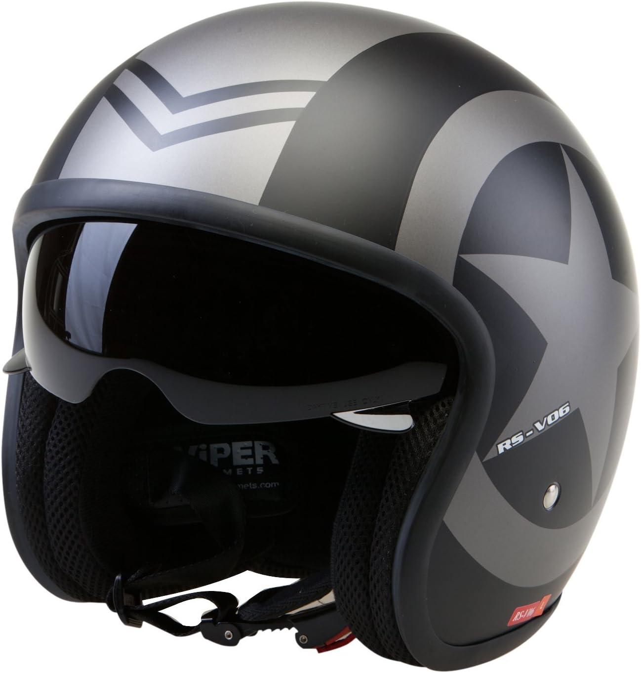 Viper RSV06 Casque de moto ouvert 57-58 cm noir opaque