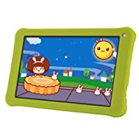 Aoson M753-S2 7 inch Kids Gift Tablet 16GB/1GB Android 7.1 Kids Learning Tablet PC with Silicone Software Parental Control (Green)