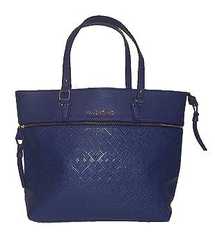 Valentino - Cartera de mano con asa para mujer Azul azul: Amazon.es: Equipaje