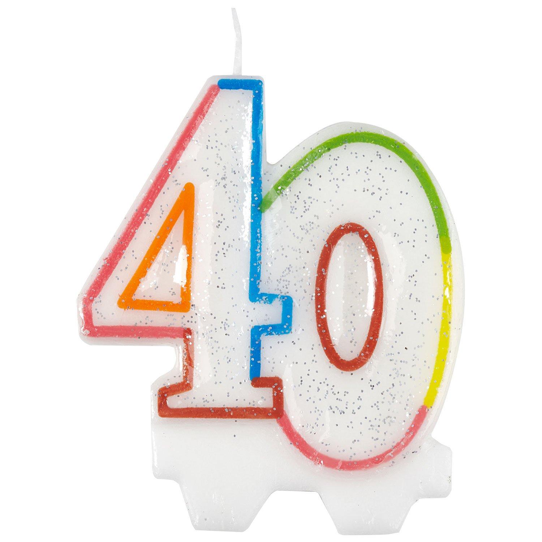 Amscan 9900811 7.5 cm Milestone 40th Birthday Candle Amscan Internatinal Ltd