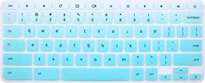 Silicone Keyboard Cover Skin for Acer Chromebook R11 CB3-131 CB5-132T, 2017 Acer Premium R11 Convertible, Acer Chromebook R13 CB5-312, Acer Chromebook 14 CB3-431 CP5-471 (Ombre Mint Green)