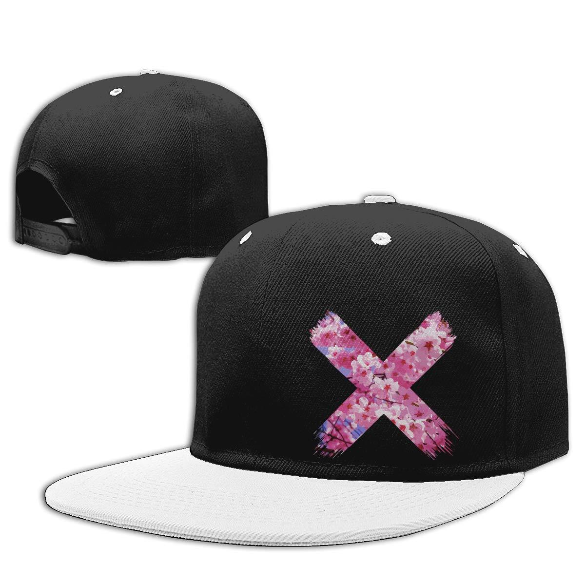 Sakura Flower Fashion Flat Peaked Baseball Caps NMG-01 Women Men Plain Cap