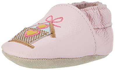 8ec14ebe0bd30 Rose   Chocolat Baby Girls  Song Bird Babyshoes and Slippers Pink Size  1.5-