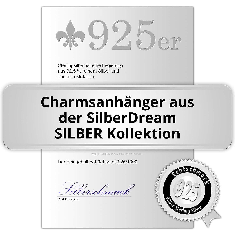 scintillement Charms tch/èques cristaux Preciosa GSC573W Femme Charm seau /à champagne blanc SilberDream scintillement bijoux Argent 925//1000