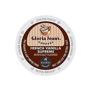 Gloria Jean's 60051046CT French Vanilla Supreme Coffee K-Cups, 96/carton