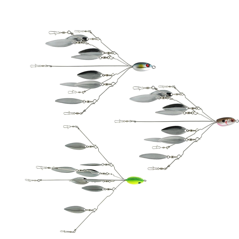 Sf 5 arms 8 blades alabama umbrella rig fishing bass lures for Umbrella rig fishing