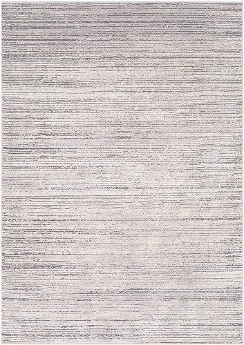 Sandie Taupe, Medium Gray and Khaki Modern Area Rug 7 10 x 10 3