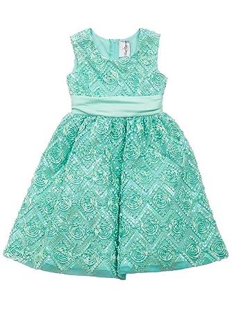 28b8d4ee043cf Rare Editions Little Girls Mint Sequin Soutache Social Party Dress (3T