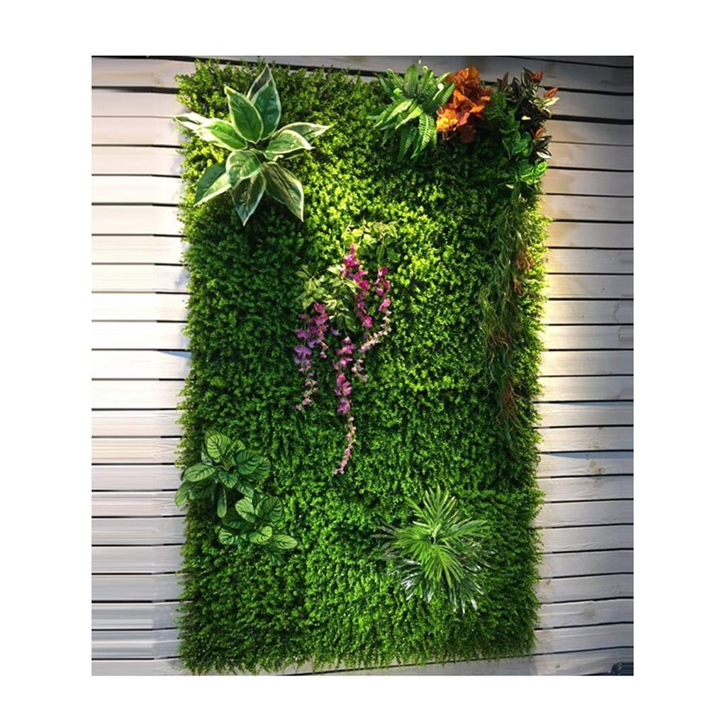 YI GAO Plant Wall Green Plant Wall Turf Indoor Environmental Protection Wall Decoration Green Lawn Plastic Fake Flower Image Background Wall Green Plant Wall @ (Color : 5) by YI GAO