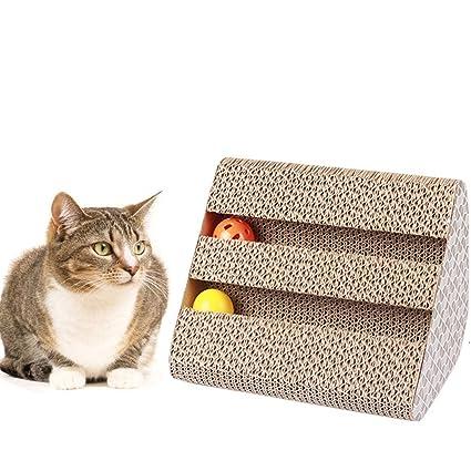 Ayuboom - Rascador para gatos con hierba para gatos: Amazon.es: Productos para mascotas