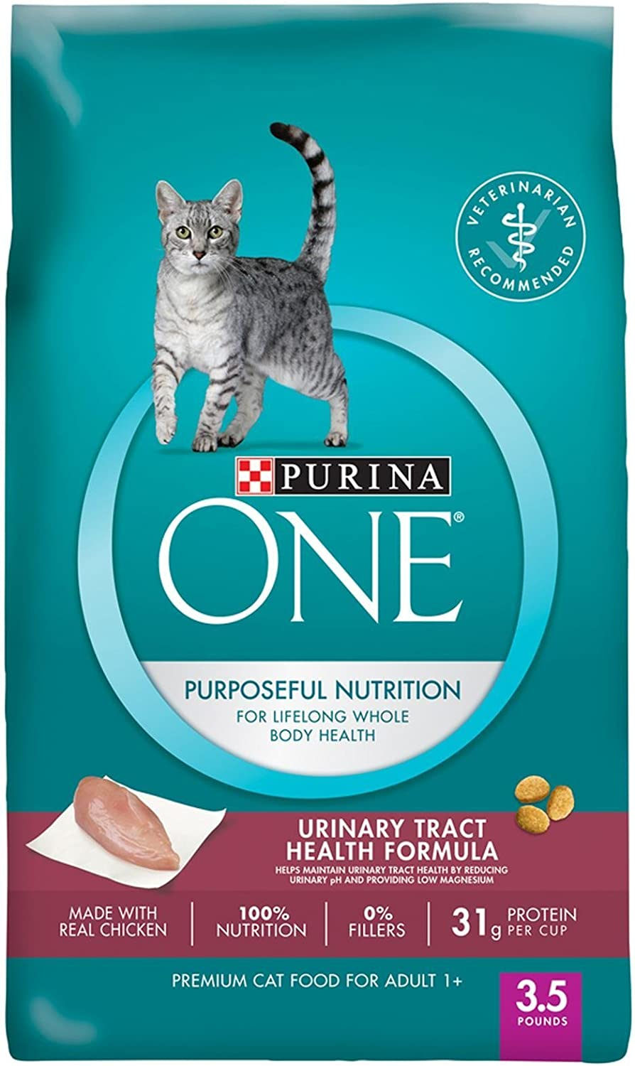 Purina One Purposeful Nutrition Dry Cat Food - Adult Urinary Tract Health Formula, 3.5 Lb