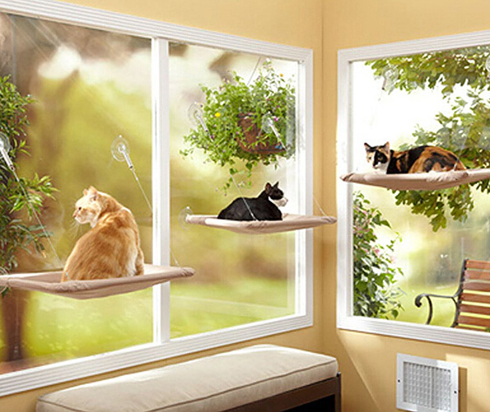 Window-mounted Cat Bed Cat Sunny Seat Pet Bed Hammock by e-smarter by e-smarter