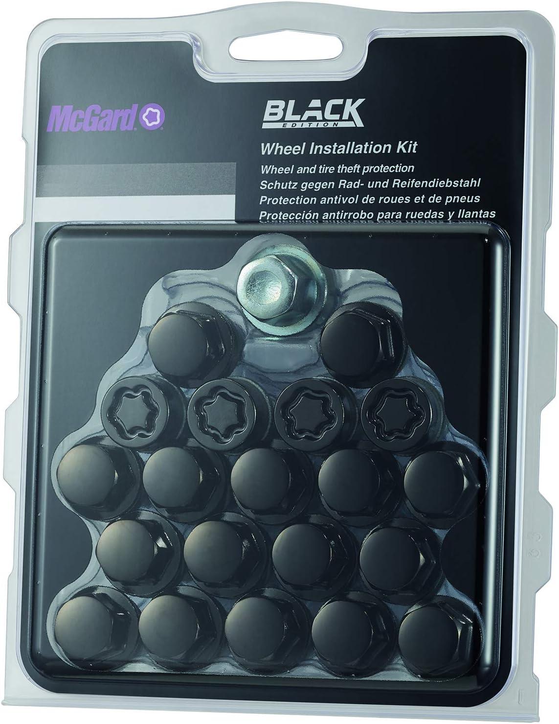 67205sub Radmontagesatz Schwarz Beinhaltet 16 Radbolzen In Schwarz 4 Radsicherungen Sub Und 1 Schlüssel M14x1 5 Kegelsitz Schaftlänge 30 5 Mm Sw17 Auto