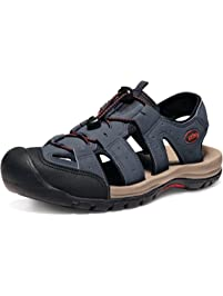 SDHEIJKY Causal Men's Sport Sandals Trail Outdoor Water Shoes