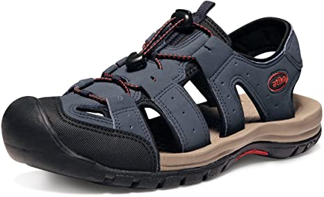 TGSW2EYJ Women Black Mens Sport Summer Sandals Trail Outdoor Beach Shoes Genuine