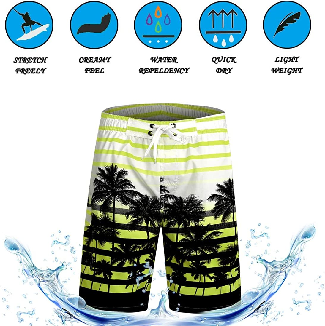 APTRO Mens Shorts Swim Trunks Casual Surf Beach Shorts Quick Dry Board Shorts 03