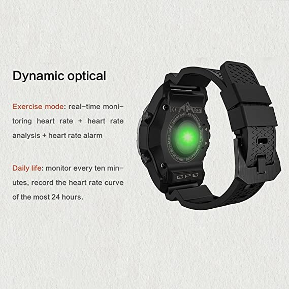 OOLIFENG Fitness Reloj Inteligente, Reloj Running con GPS ...