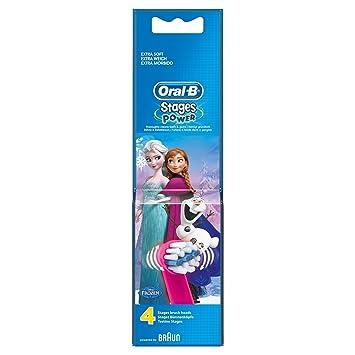 Frozen de Oral-B Stages Power - Cabezales para cepillo de dientes eléctrico - Pack de 6 x 4: Amazon.es: Salud y cuidado personal