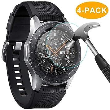CAVN Samsung Galaxy Watch 46mm Protector de Pantalla [4 Paquetes], Impermeable Vidrio Templado Pantalla Protector para Samsung Galaxy Watch [Alta ...