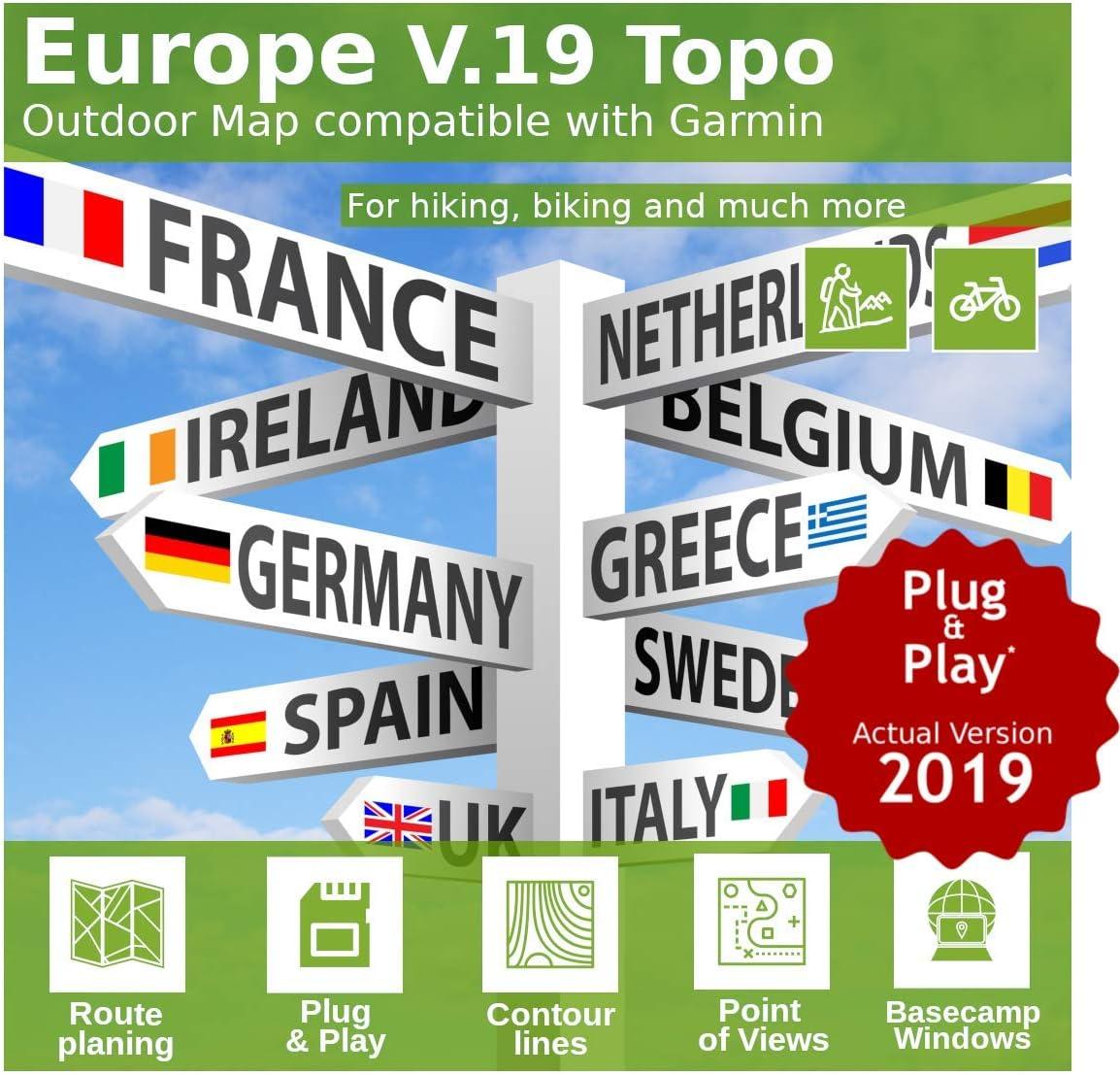 Mapa Topo Europa V.18 - Compatible para Garmin Astro 220, Astro 320 & Alpha 50, Alpha 100: Amazon.es: Electrónica
