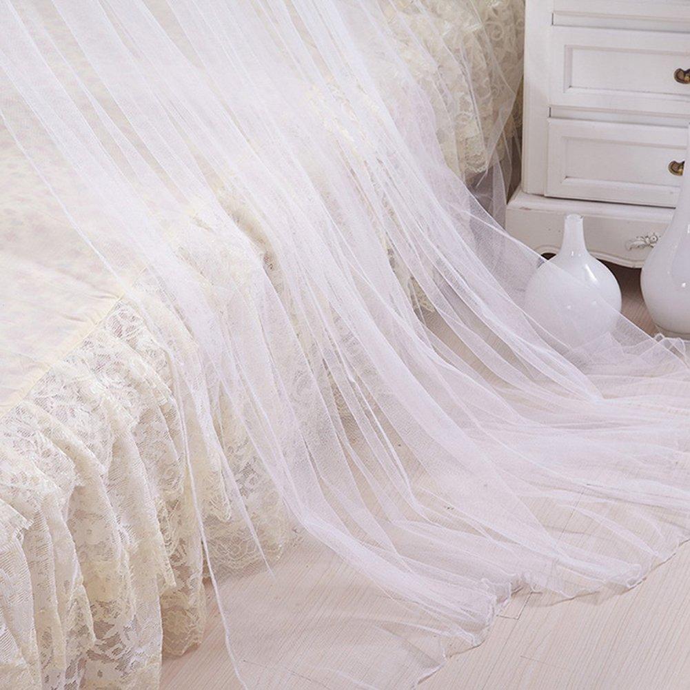 ZhongYeYuanDianZiKeJi Mosquitera Bed Blanca Encaje Elegante Blanco protecci/ón contra insectos de matrimonio o individuales Cobertura Completa Mosquiteros