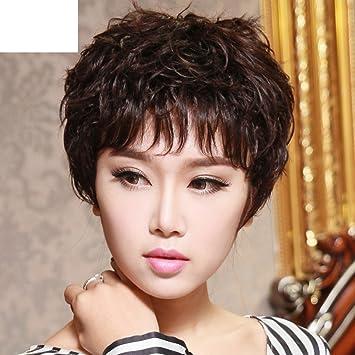 Alte Textur Dauerwelle Kurzes Haar Temperament Und Flauschige Kurze