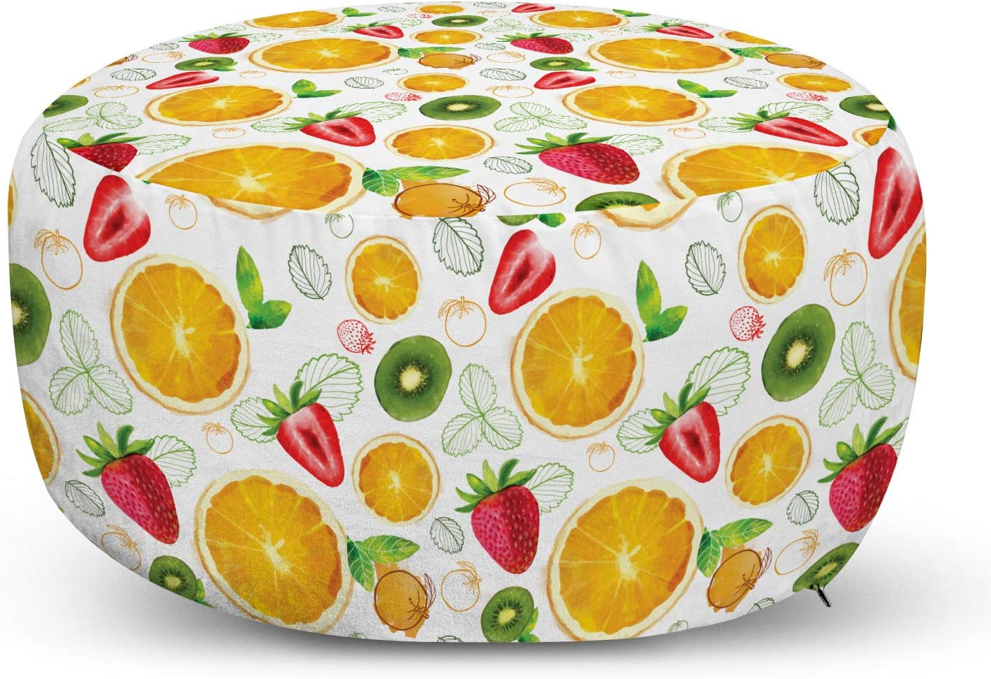 Baggage Covers Fresh Lemon Fruit Yellow Green Leaves Blue Washable Protective Case
