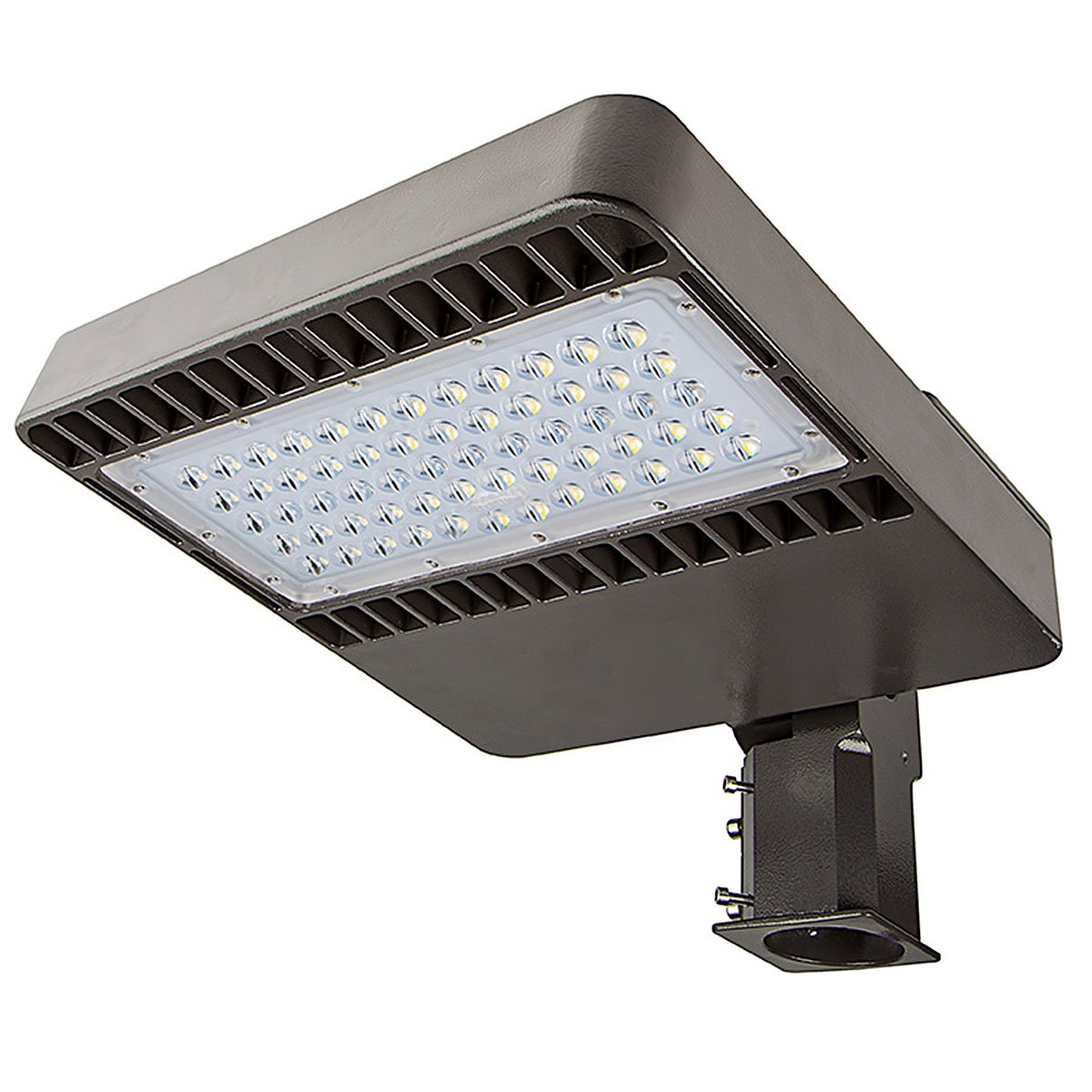 Phenas 48W LED Street Light, Road Lamp, LED Parking Lot Lights Pole LED Outdoor Site and Area Light, Shoe Box Light, 11000L, 4800-5300k, ROHS ETL DLC CE (48 Watts), 5 Years Warranty