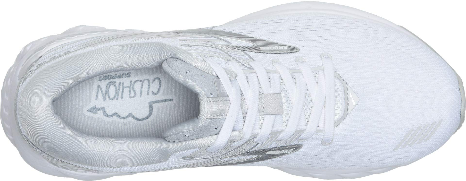 Brooks Women's Adrenaline GTS 19 White/White/Grey 5 D US by Brooks (Image #2)