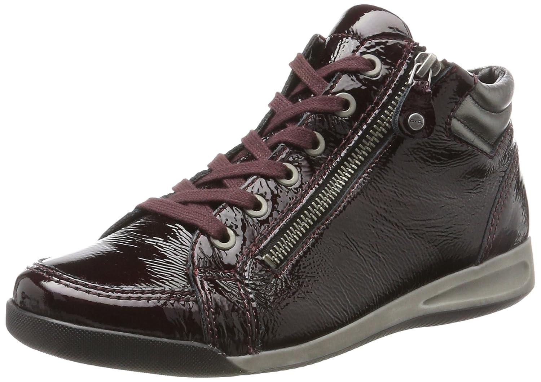 ara Damen Rom-STF 12-44410 Hohe Sneaker  41 EU|Rot (Brunello,gun)