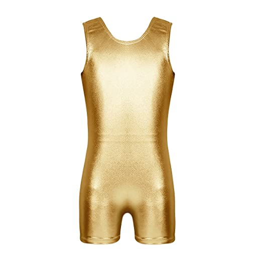 Amazoncom Chictry Kids Girls Basics Unitard Metallic Gymnastics