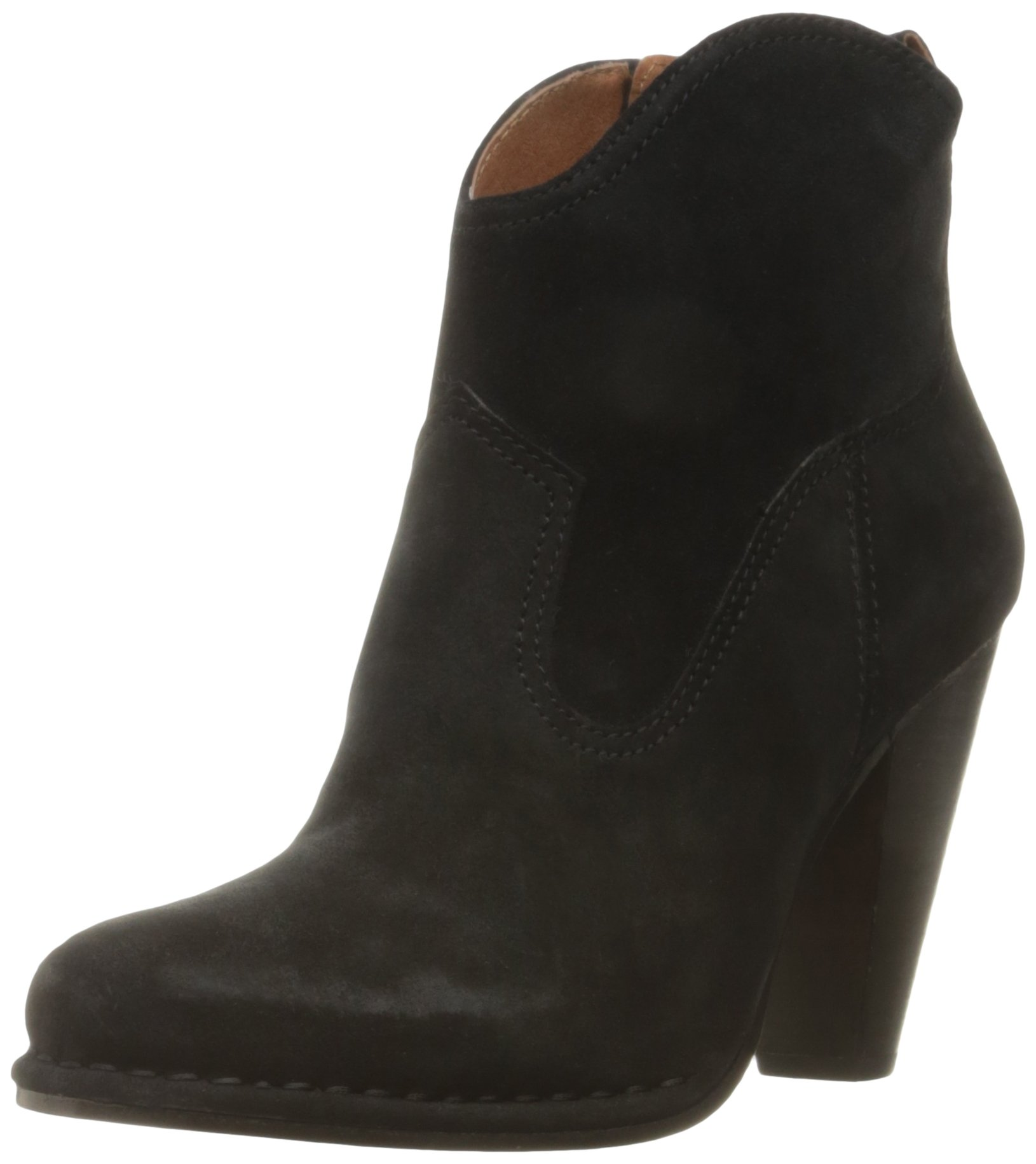 FRYE Women's Madeline Short Suede Boot, Black, 8 M US by FRYE