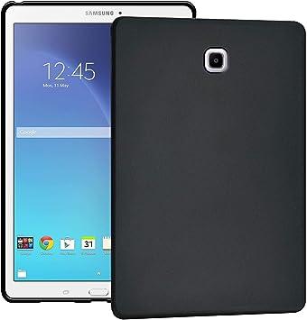 Verco Funda para Samsung Galaxy Tab S2 9.7, Tapa Trasera de TPU Flexible Carcasa Silicón Case [T810/T815/T813/T819], Negro