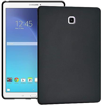 Verco Hülle für Samsung Galaxy Tab S2 9.7, Schutzhülle Tablet Tasche Silikon Cover [T813 / T819], Schwarz