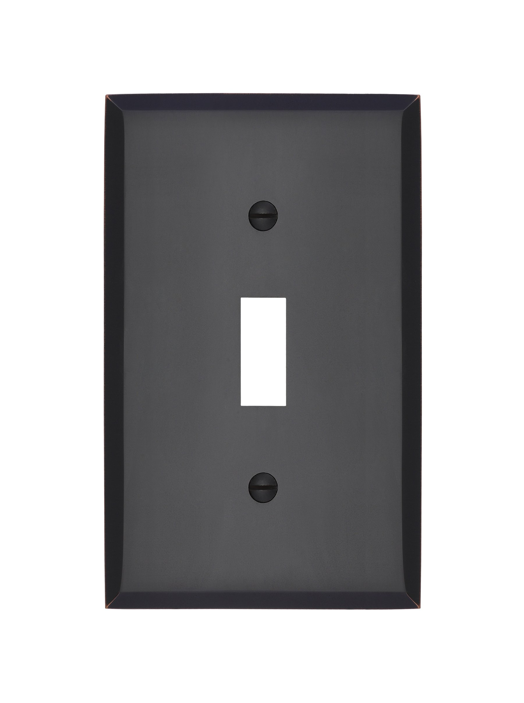 MAYKKE Graham Single Light Switch Cover | Premium 1-Toggle Wall Plate Standard Size | 5 Color Finishes to Choose From | Oil-Rubbed Bronze, ALA1010104