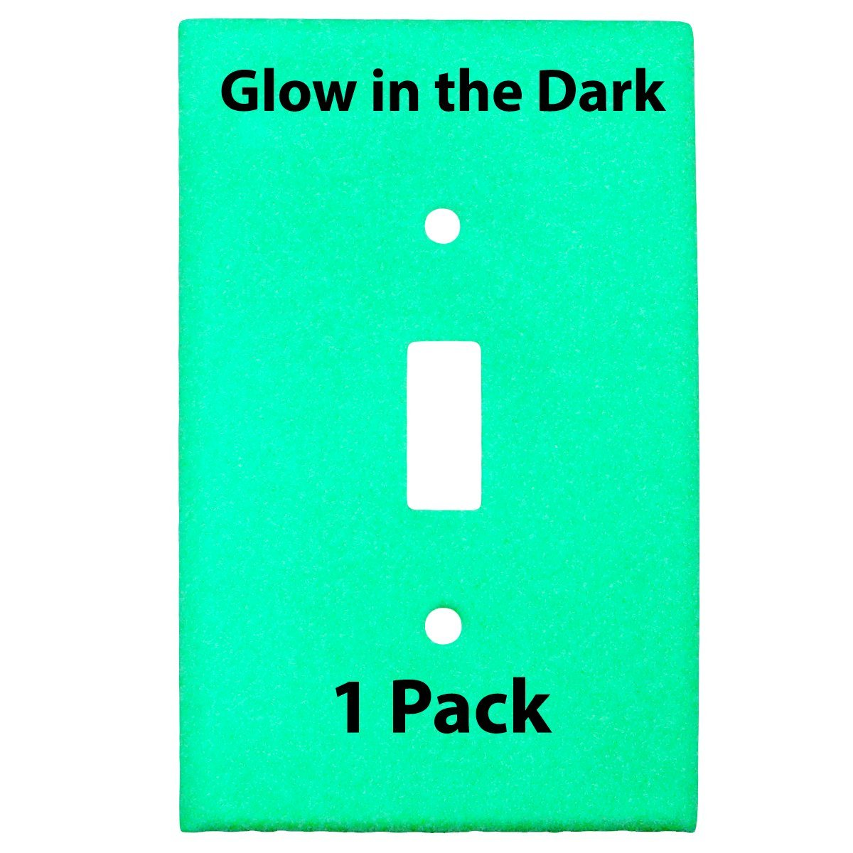 Glow in the Dark Safety 1-Gang Wall Cover Plate - White Plastic - Standard Size for Single Toggle Light Switch (Single Pack)