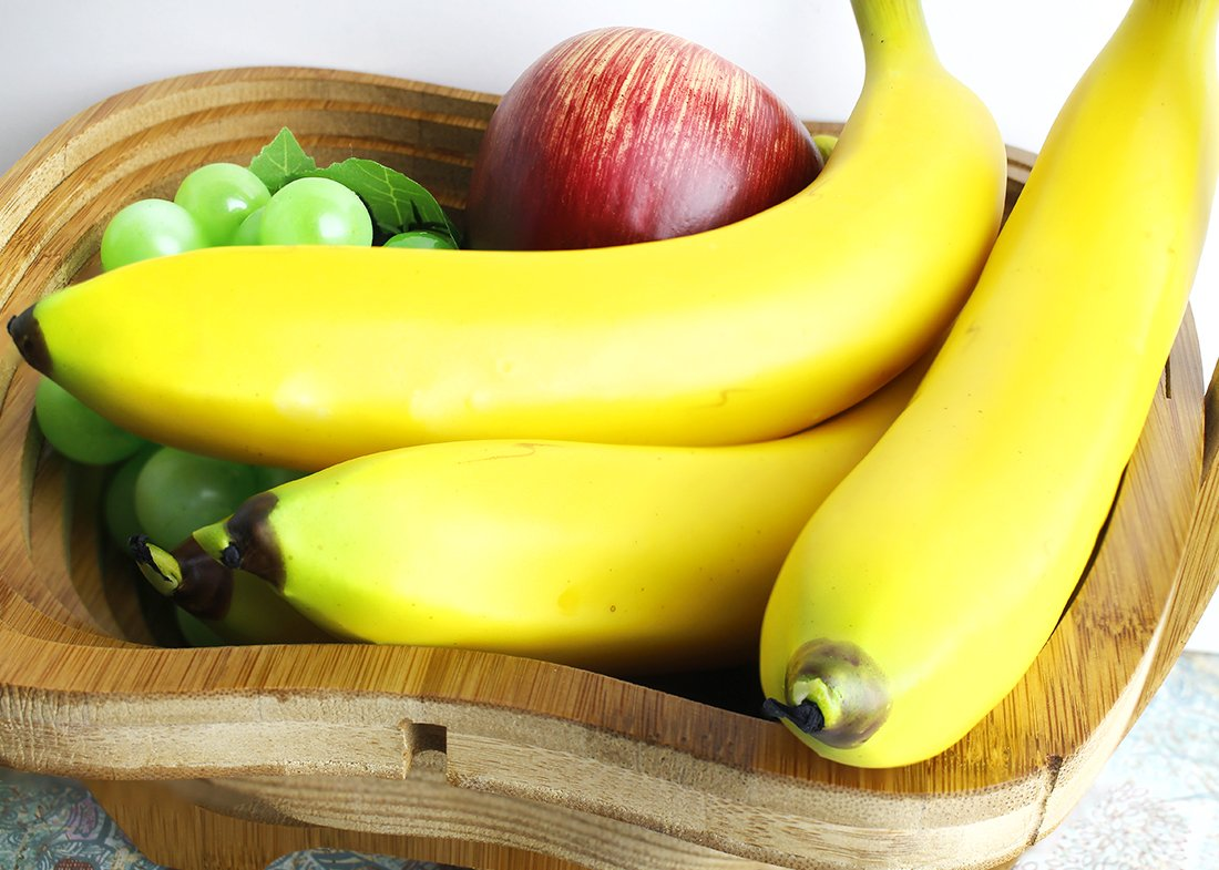 Juvale-Set-of-6-Individual-Fake-Fruit-Bananas-Artificial-Fruit-Plastic-Bananas-for-Still-Life-Paintings-Storefront-Decoration-Kitchen-Decor-Yellow-8-x-37-x-15-Inches
