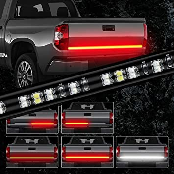 Red LED Tailgate Light Bar 48 Strip with Directional Arrow Running//Parking Light//Sequential Turn Signal//Brake//Reverse Light for Truck SUV Trailer