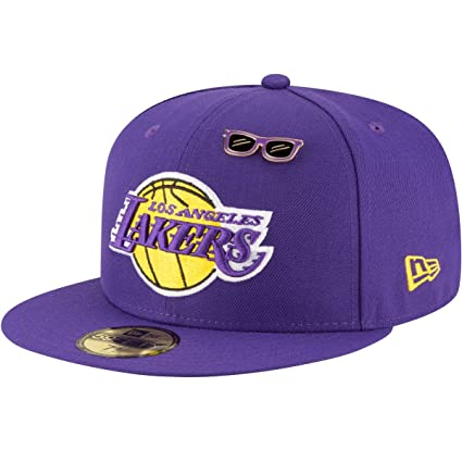 fd1339259ce New Era Los Angeles Lakers 2018 NBA Draft Cap 59Fifty Fitted Hat - Purple (7