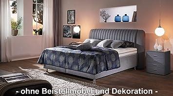 Oschmann Polsterbett Anniva Jubilaum Hellgrau 180x200 H3