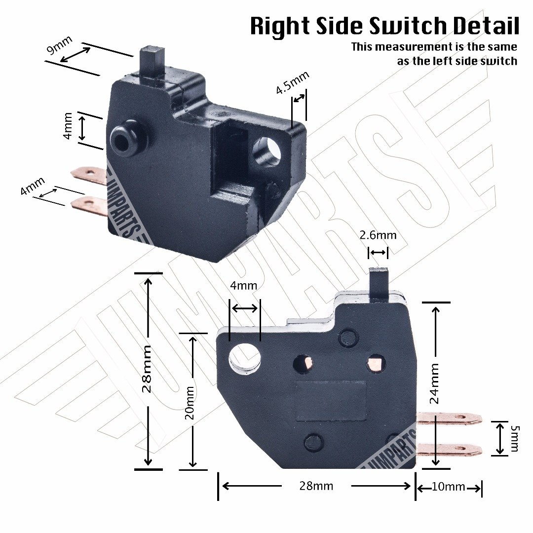 4 Stroke 300cc SW01 UMPARTS L /& R Hand Brake Stop light Switch on off button Replacement for all years KYMCO Scooter Moped Downtown 300i