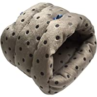 WowowMeow Small Animals Warm Cage Hanging Cave Bed for Chinchillas, Guinea Pigs, Hamsters, Rats, Squirrel and Rabbits (M, Grey- Dot)