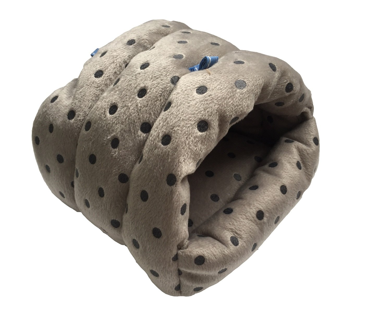 WOWOWMEOW Small Animals Warm Hanging Cage Cave Bed for Hamsters, Guinea-Pigs, Rats, Rabbit and Chinchillas (L, Dot-Grey) by WOWOWMEOW