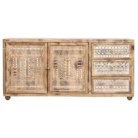 The Attic French Sideboard (Natural Antique and White)