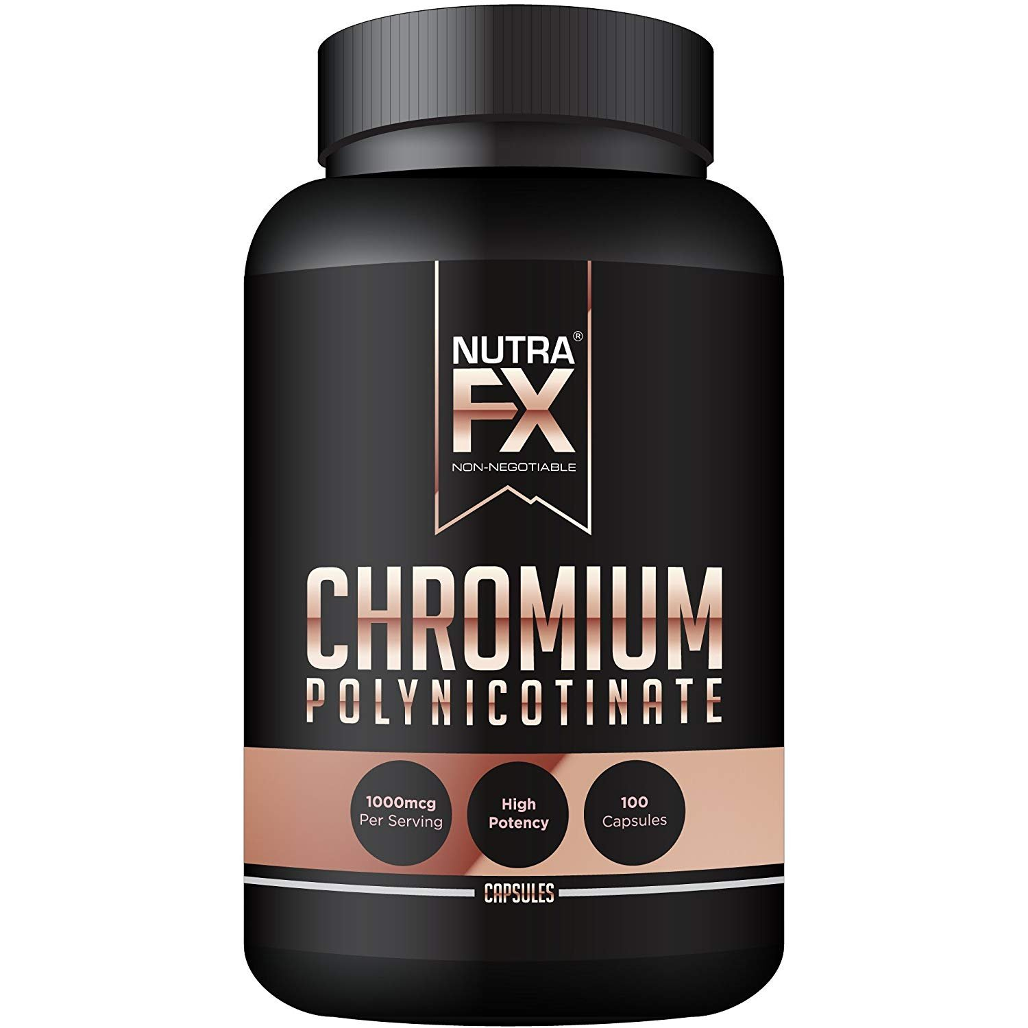 NUTRAFX Chromium Polynicotinate 1000 Mcg Natural Appetite Suppressant - Benefits Heart, Cholesterol and Energy 100 Caps