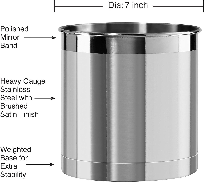 Oggi Jumbo Stainless Steel Utensil Holder: Kitchen & Dining